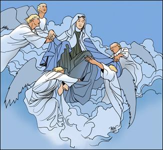 Resultado de imagen para Las 15 promesas de la Sta. Virgen expresadas en numerosas apariciones