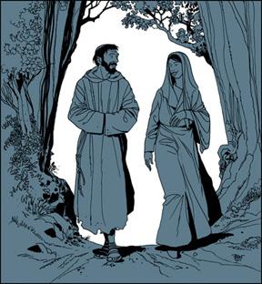 Vierge Marie et François d'Assise